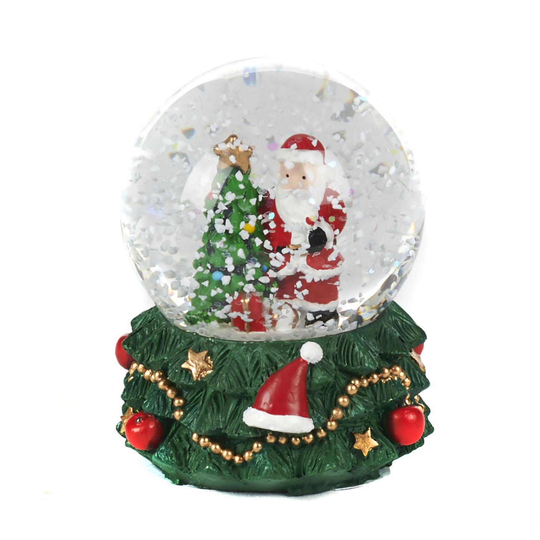Albero Di Natale E Babbo Natale.Globo Di Neve Con Albero Di Natale E Babbo Natale Comme A La Maison